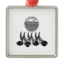 Tribal Waters Metal Ornament