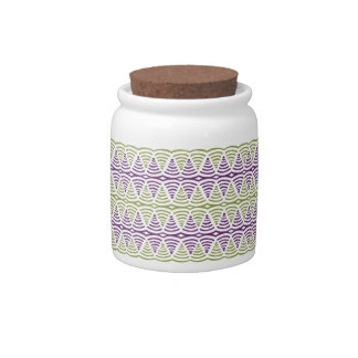 Tribal Wave Pattern Cookie Jar Candy Dishes