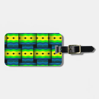 Tribal Weaves abstract pattern Bag Tag