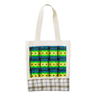 Tribal Weaves abstract pattern Zazzle HEART Tote Bag