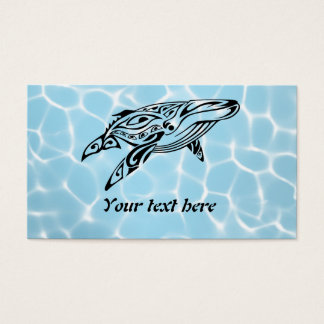 Tribal whale 1 business card