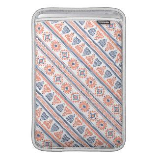 Tribal white Ethnic pattern Macbook Air Sleeve