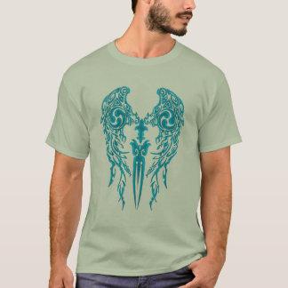 Tribal Wings 1 Cyan T-Shirt