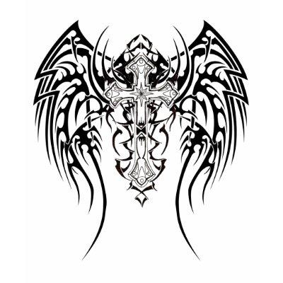 Characters Tribal_wings_cross_scars_tshirt-p235446833971959728bviuk_400