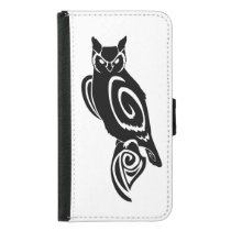 Tribal Wise Great Horned Owl Wallet Phone Case For Samsung Galaxy S5