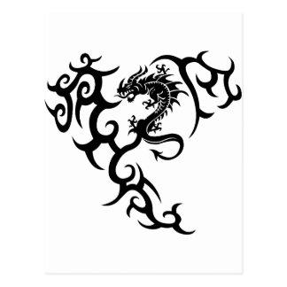 Tribal with dragon postcard