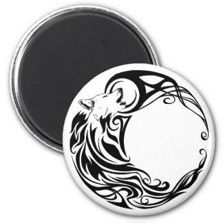 Tribal Wolf 2 Inch Round Magnet