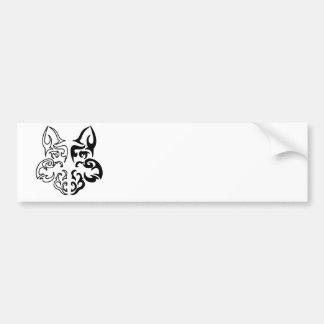 Tribal Wolf Bumper Sticker