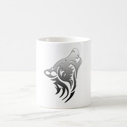 Tribal Wolf Classic White Coffee Mug