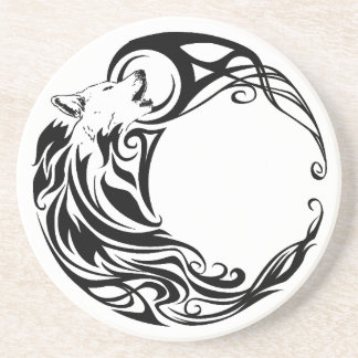 Tribal Wolf Drink Coaster
