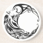 Tribal Wolf Drink Coasters