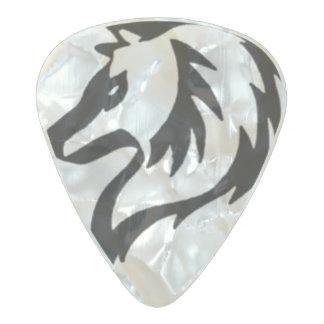Tribal Wolf Guitar Pick