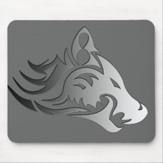 Tribal Wolf Mouse Pad