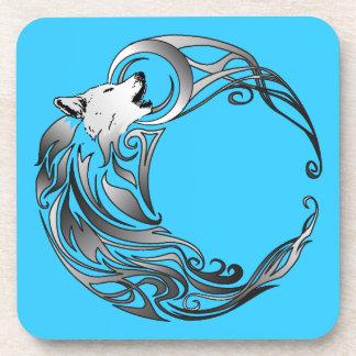 Tribal Wolf - Shaded Coaster