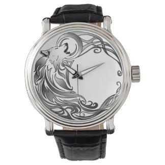 Tribal Wolf - Shaded Wristwatch