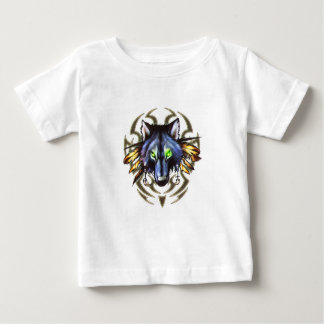 Tribal wolf tattoo design baby T-Shirt