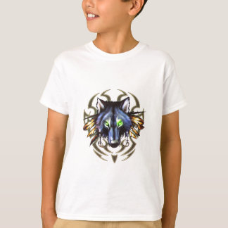 Tribal wolf tattoo design T-Shirt