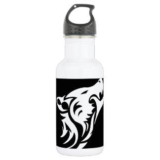 Tribal Wolf Water Bottle