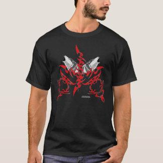 Tribal Wolves Men's Dark T-Shirt