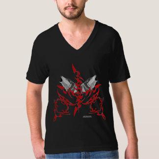 Tribal Wolves Men's V-Neck T-Shirt