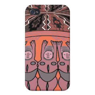 Tribal Women effigy - Aftrican Art iPhone 4/4S Cases
