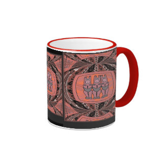 Tribal Women effigy - Aftrican Art Ringer Coffee Mug