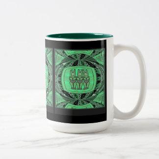 Tribal Women effigy - Aftrican Art Two-Tone Coffee Mug