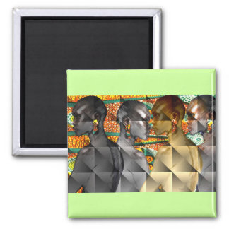 Tribal Women of Africa 2 Inch Square Magnet