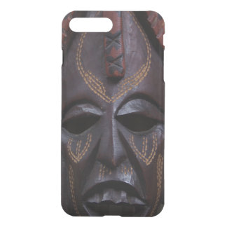 Tribal Wooden Carved Ritual African Mask Brown Red iPhone 8 Plus/7 Plus Case