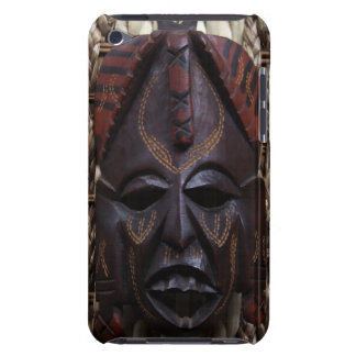 Tribal Wooden Carved Ritual African Mask Brown Red iPod Touch Case