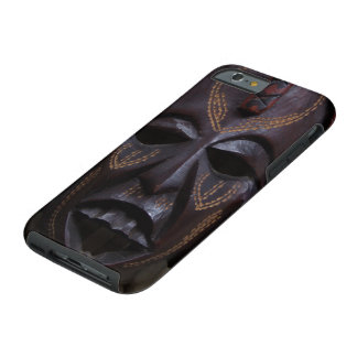 Tribal Wooden Carved Ritual African Mask Brown Red Tough iPhone 6 Case