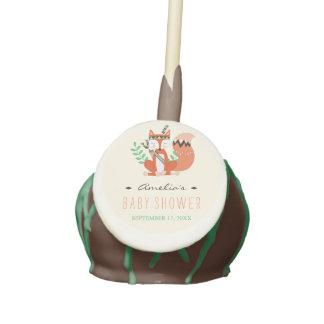 Tribal Woodland Fox Baby Shower Cake Pops