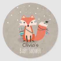Tribal Woodland Fox Sticker