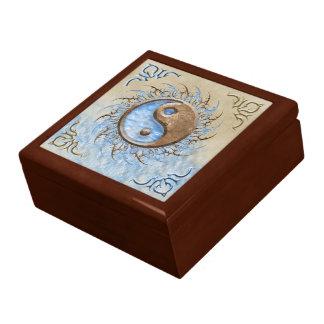 Tribal Yin Yang Trinket Boxes