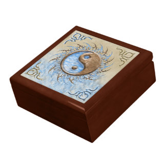 Tribal Yin Yang Jewelry Box