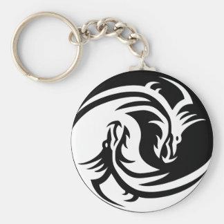 Tribal Yin Yang Keychain