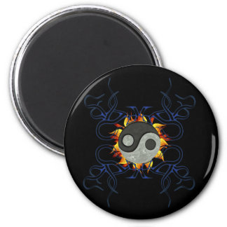 Tribal Ying Yang 2 Inch Round Magnet