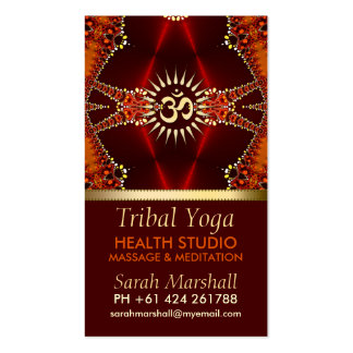 Tribal Yoga Eastern New Age Business Card