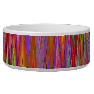Tribal Zigzag Pattern Pet Bowl