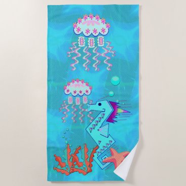 Beach Themed TribalOcean Beach Towel