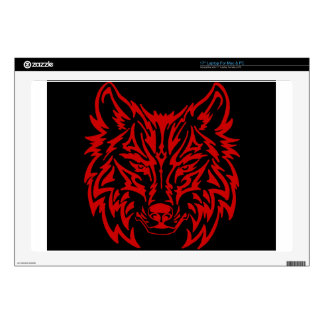 "TribalWolfRed 17"" Laptop Skin"