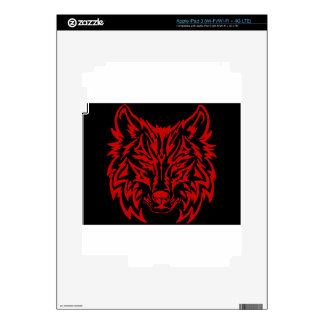 TribalWolfRed iPad 3 Skins