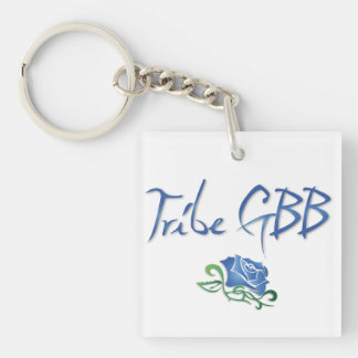 Tribe GBB with Rose Double-Sided Square Acrylic Keychain