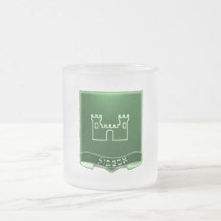 Tribe Of Simeon Crest Frosted Glass Mug