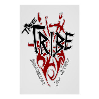 "Tribe Poster Large White[22.86"" x 34.5""]"