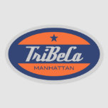 TriBeCa Oval Sticker