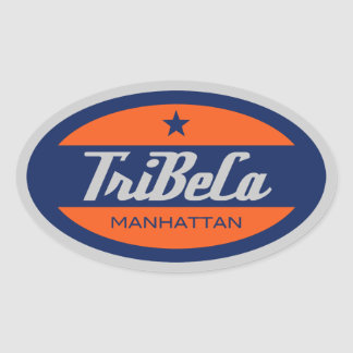 TriBeCa Oval Sticker