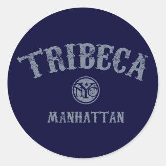 TriBeCa Round Stickers