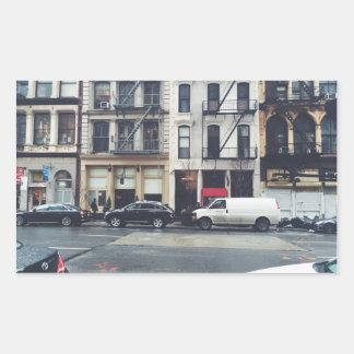 Tribeca Rectangular Sticker