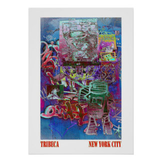 Tribeca Street Art NYC Poster